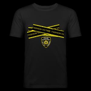 T-shirt Homme Police Line Fashion Victim - Tee shirt près du corps Homme