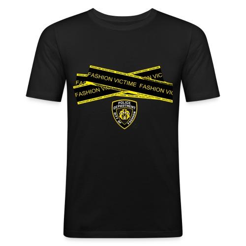 T-shirt Homme Police Line Fashion Victim - T-shirt près du corps Homme