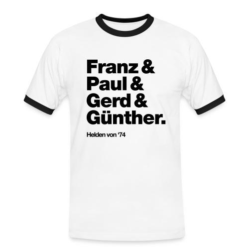 WM-Helden #74 Retro Fantrikot - Männer Kontrast-T-Shirt