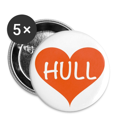 Buttons small x5: Love Hull - Buttons small 25 mm