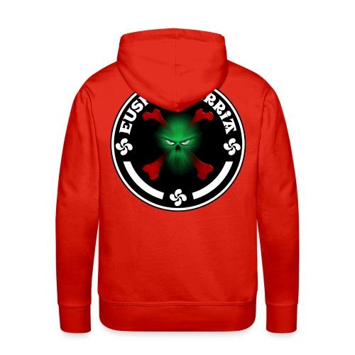 Euskal Herria skull - Sweat-shirt à capuche Premium pour hommes