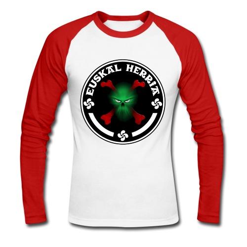 Euskal Herria skull - T-shirt baseball manches longues Homme
