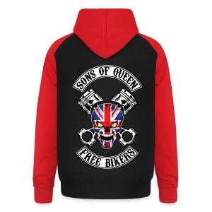 Sons of Queen free bikers - Sweat-shirt baseball unisexe