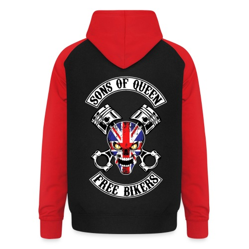 Sons of Queen free bikers - Sweat-shirt baseball unisexe