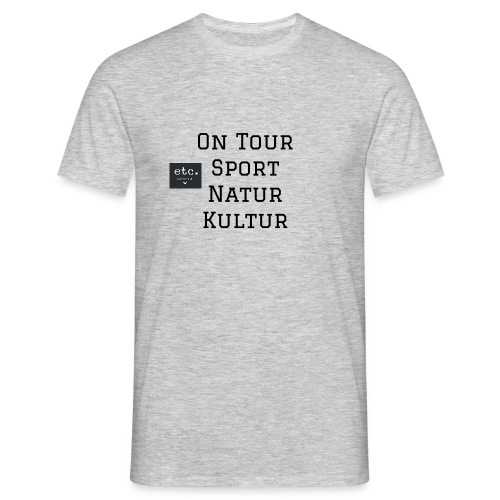 Tour-VintageShirt by etc 2018 washed grey, normal geschnitten - Männer T-Shirt