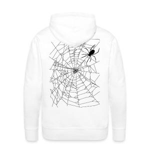 Spider and web - Sweat-shirt à capuche Premium pour hommes
