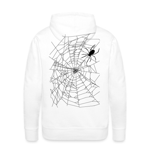 Spider and web - Sweat-shirt à capuche Premium pour hommes