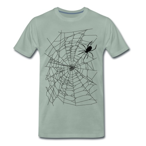 Spider and web - T-shirt Premium Homme