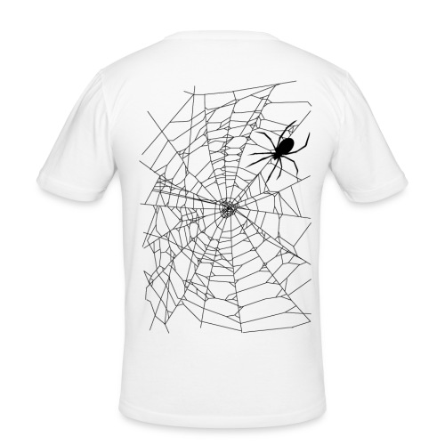 Spider and web - T-shirt près du corps Homme