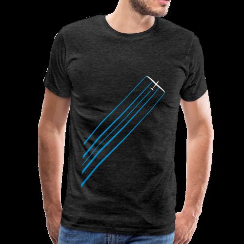 Segelflieger Wasser Chemtrail Pilots Geschenk T-Shirt - Männer Premium T-Shirt