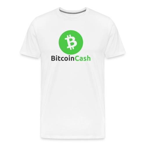 Bitcoin Cash Round Logo - Men's T-Shirt #1 - Männer Premium T-Shirt