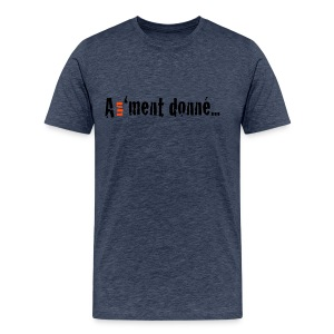 MTSBASIC_BLACKRD_A1MD - T-shirt Premium Homme