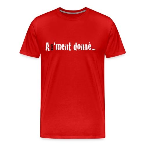 MTSBASIC_WHITEBLK_A1MD - T-shirt Premium Homme