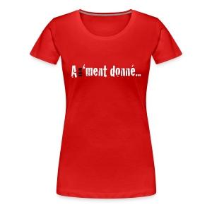 WTSBASIC_WHITEBLK_A1MD - T-shirt Premium Femme