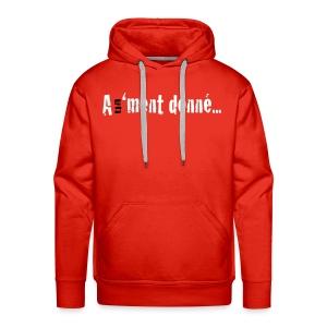 MSWBASIC_BLANCBK_A1MD - Sweat-shirt à capuche Premium pour hommes