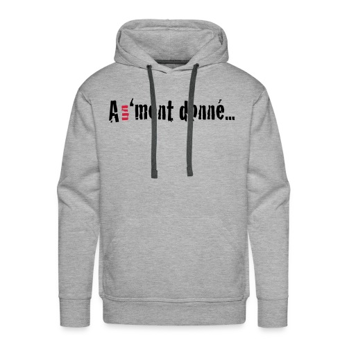 MSWBASIC_BLACKRD_A1MD - Sweat-shirt à capuche Premium pour hommes