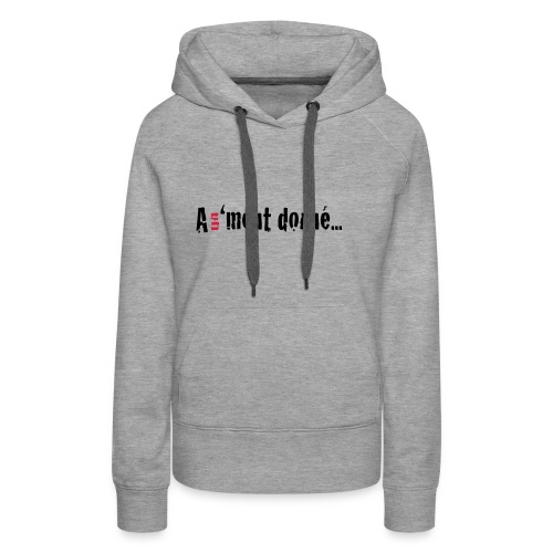 WSWBASIC_BLACKRD_A1MD - Sweat-shirt à capuche Premium pour femmes