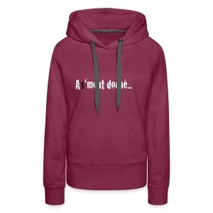 MSWBASIC_BLANCBK_A1MD - Sweat-shirt à capuche Premium pour femmes