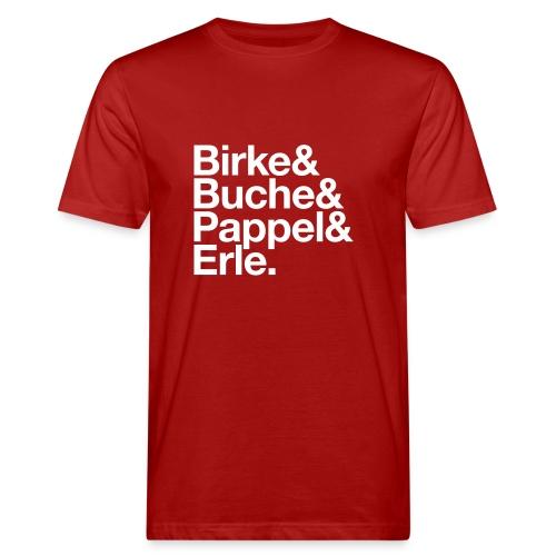 Pollenflug Fanshirt - Rot/Weiß - Männer Bio-T-Shirt