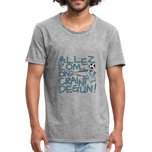 T-shirt Vintage Homme Allez l'OM, On Craint Degun - T-shirt vintage Homme