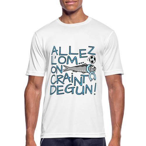 T-shirt respirant Homme Allez l'OM, On Craint Degun - T-shirt respirant Homme