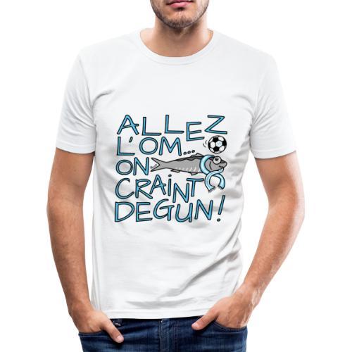 T-shirt près du corps Homme Allez l'OM, On Craint Degun - T-shirt près du corps Homme