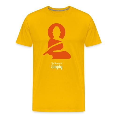 Männer Premium T-Shirt - T-Shirt, Buddha, Zen, Empty Message