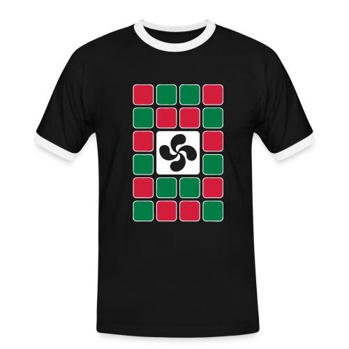 Damier Basque - T-shirt contrasté Homme