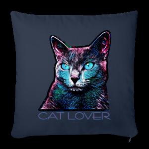 CAT LOVER MULTICOLOR - Sofakissenbezug 44 x 44 cm