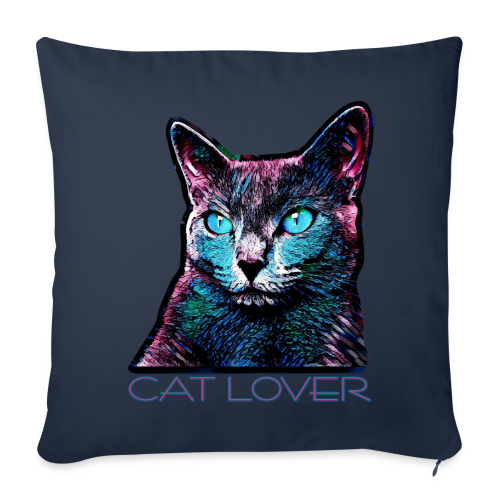 CAT LOVER MULTICOLOR - Sofakissenbezug 44 x 44 cm