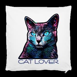 CAT LOVER MULTICOLOR - Kissenbezug 40 x 40 cm