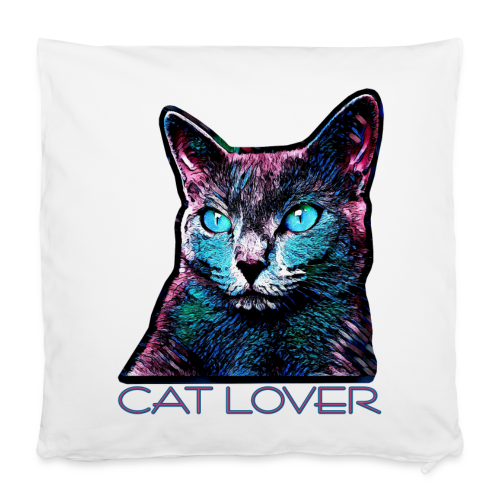 CAT LOVER MULTICOLOR - Kissenbezug 40 x 40 cm