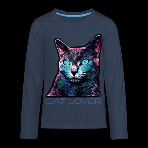 CAT LOVER MULTICOLOR 4 TEENS - Teenager Premium Langarmshirt