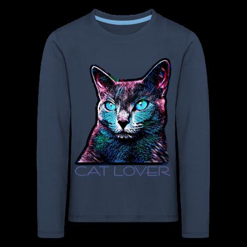 CAT LOVER MULTICOLOR 4 KIDS - Kinder Premium Langarmshirt