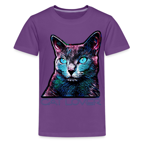 CAT LOVER MULTICOLOR 4 TEENS - Teenager Premium T-Shirt