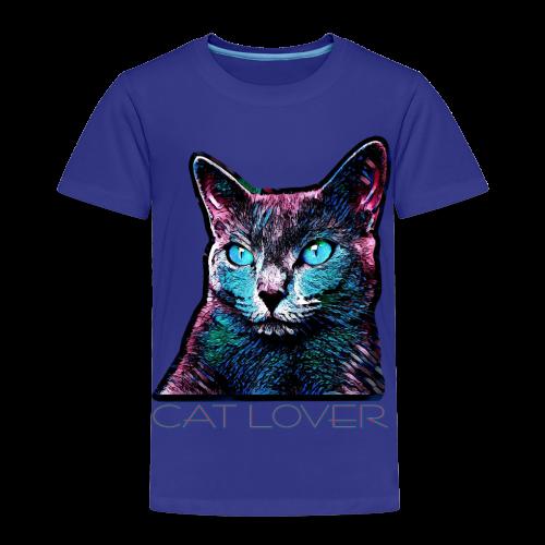 CAT LOVER MULTICOLOR 4 KIDS - Kinder Premium T-Shirt