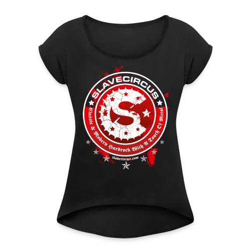 Slavecircus D3 - Frauen T-Shirt mit gerollten Ärmeln