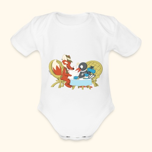 Baby Bio-Kurzarm-Body Herr Fuchs und Frau Elster - Baby Bio-Kurzarm-Body
