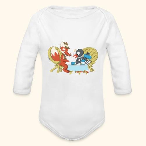 Baby Bio-Langarm-Body  Herr Fuchs und Frau Elster - Baby Bio-Langarm-Body