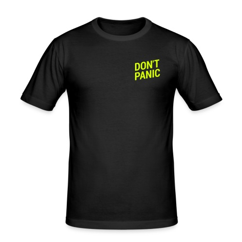 Shirt Figurbetont DON'T PANIC NEON - Männer Slim Fit T-Shirt