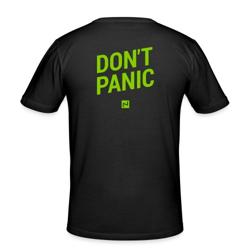 Shirt Figurbetont DON'T PANIC  - Männer Slim Fit T-Shirt
