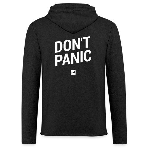 Leichtes Kapuzensweatshirt DON'T PANIC weiß - Leichtes Kapuzensweatshirt Unisex