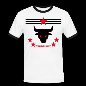PROHIBITS BULLFIGHTS - Männer Kontrast-T-Shirt
