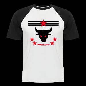 PROHIBITS BULLFIGHTS - Männer Baseball-T-Shirt
