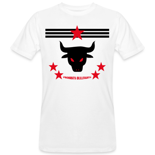 PROHIBITS BULLFIGHTS - Männer Bio-T-Shirt