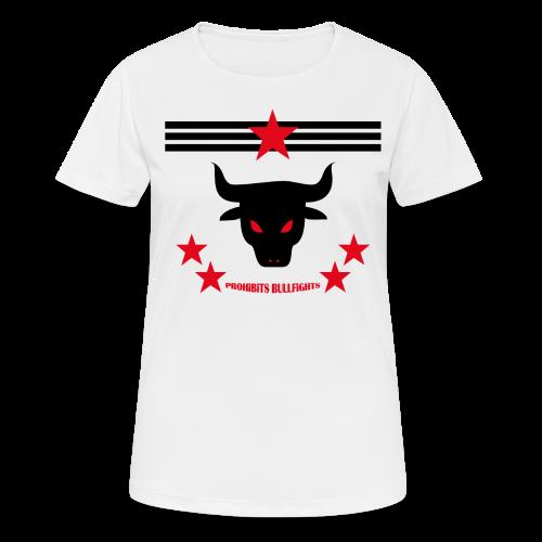 PROHIBITS BULLFIGHTS - Frauen T-Shirt atmungsaktiv
