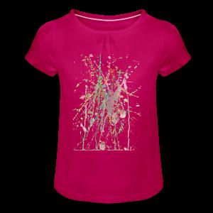 AQUARELLSPRITZER - Mädchen-T-Shirt mit Raffungen