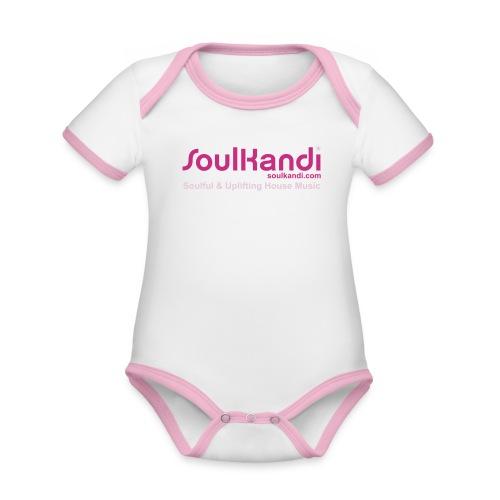 Baby Grow - Magenta & Pink Print - Organic Baby Contrasting Bodysuit