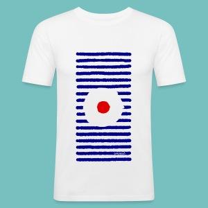 T-shirt près du corps Homme 'Marinière A - Tee shirt près du corps Homme