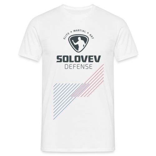 T-Shirt Stripes Color Print Men - Männer T-Shirt